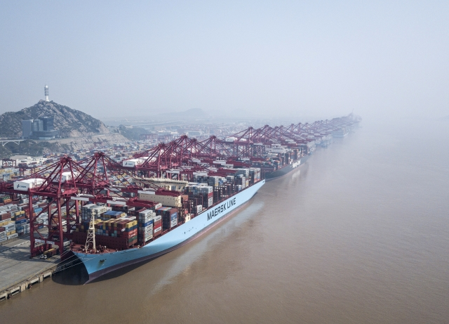 Image result for The Yangshan Deep Water Port in Shanghai.Photographer: Qilai Shen/Bloomberg