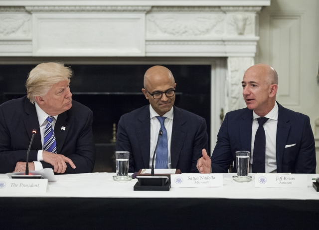 Image result for Bezos Blackmail Charge Intensifies Proxy War With Trump