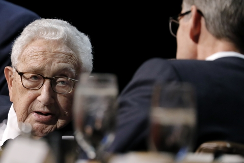 Henry Kissinger, former U.S. secretary of state, speaks during an Economic Club of New York event in New York, U.S., on Dec. 5, 2017. (Photographer: Peter Foley/Bloomberg)