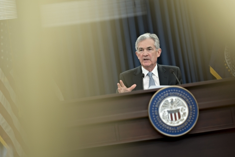 Jerome Powell, chairman of the U.S. Federal Reserve. (Photographer: Andrew Harrer/Bloomberg)