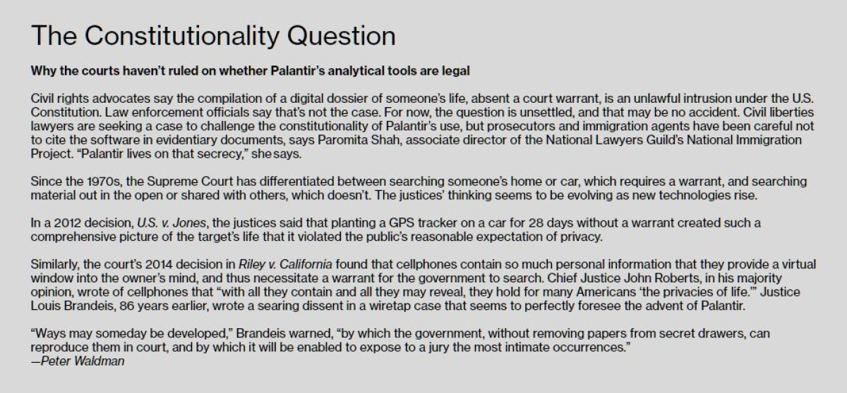 Data Theft: Palantir Knows Everything About You