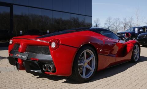 LaFerrari (Photographer: Jeff Kowalsky/Bloomberg)