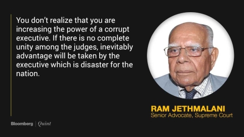 Judges' Spat Gives Executive The Advantage, Says Ram Jethmalani