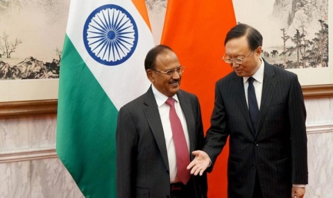 File photo of National Security Advisor Ajit Doval with Chinese diplomat Yang Jiechi. (Photograph: PTI)