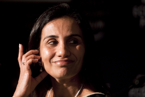 Chanda Kochhar, chief executive officer and managing director of ICICI Bank Ltd.(Photographer: Simon Dawson/Bloomberg)