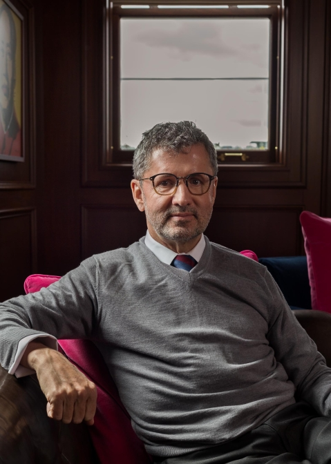 Benter in his office in Pittsburgh on April 2, 2018. (Photographer: Tom Johnson For Bloomberg Businessweek)