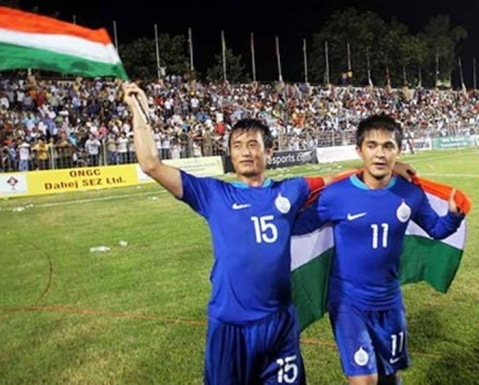 "(Photo Courtesy: Facebook/<a href=""https://www.facebook.com/pg/TheIndianFootballTeam/posts/?ref=page_internal"">Indian Football Team</a>)"