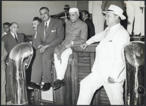 The founders of the Non-Aligned Movement Gamal Abdel Nasser, Jawaharalal Nehru, and Marshal Josip Broz Tito, in Belgrade, Yugoslavia, in 1961. (Photograph: Nehru Memorial Museum & Library / Government of India)