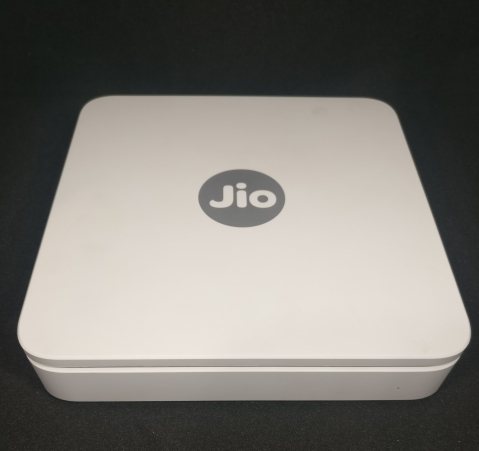 JioGigaFiber modem arranged for a photograph. (Photographer: Anirudh Saligrama/BloombergQuint)