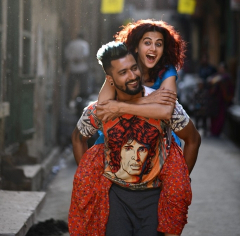 Manmarziyaan, starring Abhishek Bachchan, Vicky Kaushal and Taapsee Pannu, will be one of Eros' big releases this year. (Source: Company PR)
