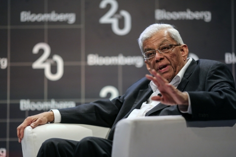 Deepak Parekh chairman of HDFC at a Bloomberg event. (Photographer: Dhiraj Singh/Bloomberg)
