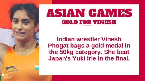 Day 2, Asian Games: Vinesh Phogat Bags Gold, Lakshay Wins Silver