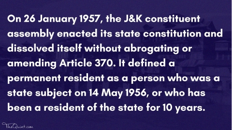 Article 35A: Debate on J&K's Special Status is a Ticking Time Bomb