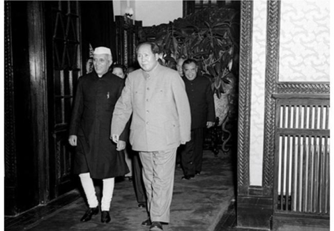Prime Minister Jawaharlal Nehru with the Chairman of the People's Republic of China, Mao Zedong at Beijing, on October 23, 1954. (Photograph: Ministry of External Affairs)