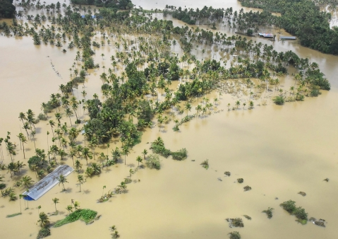 A view of the flood affected areas in Kochi. (Photo: PTI)