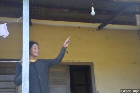 "Lhingjahoi Haokip, the aunt of Leisang village chief, points to an unlit bulb in their verandah. ""Sometimes electricity comes at 10 at night, after the entire village has gone to sleep,"" Haokip told us. ""The purpose and utility of power in this village has been defeated by the irregularity of supply."""