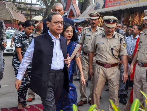Chief Justice of India Justice Ranjan Gogoi in Guwahati, on Nov. 17, 2018. (Photograph: PTI)