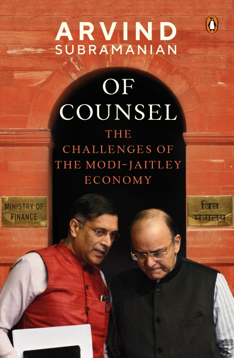 Cover image of Of Counsel, a book authored by Arvind Subramanian - India's former CEA. (Image: Penguin)