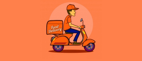 Illustration of a food delivery boy (Source: BloombergQuint)