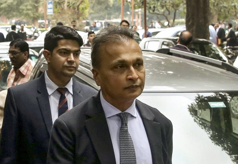 Anil Ambani leaves after appearing at the Supreme Court (Source: PTI)
