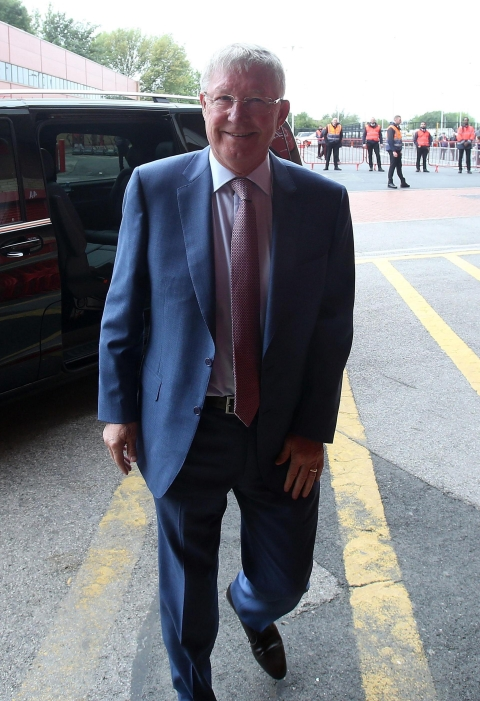 Sir Alex Ferguson has arrived to attend a game at Old Trafford. (Image courtesy:  www.manutd.com)