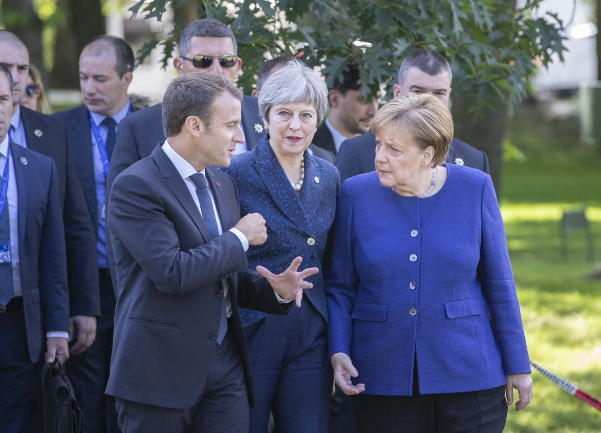 Theresa May to Meet Merkel and Macron as Furious Tories Try to Oust Her
