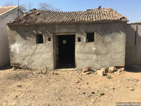 An abandoned house in Sayana village in Kutch district of northern Gujarat. After a record heatwave and three successive years of drought residents, earlier engaged in agriculture and animal husbandry, have abandoned their homes to move to cities in search of work and sustenance.