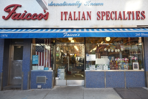 Faccio's is an almost-120-year-old Italian-American hallmark of the West Village, with a storefront that's gone unchanged for decades.