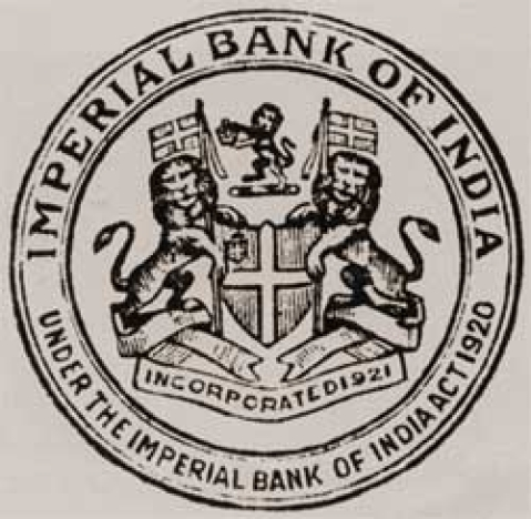 Stamp of Imperial Bank of India. (Photograph: SBI website)