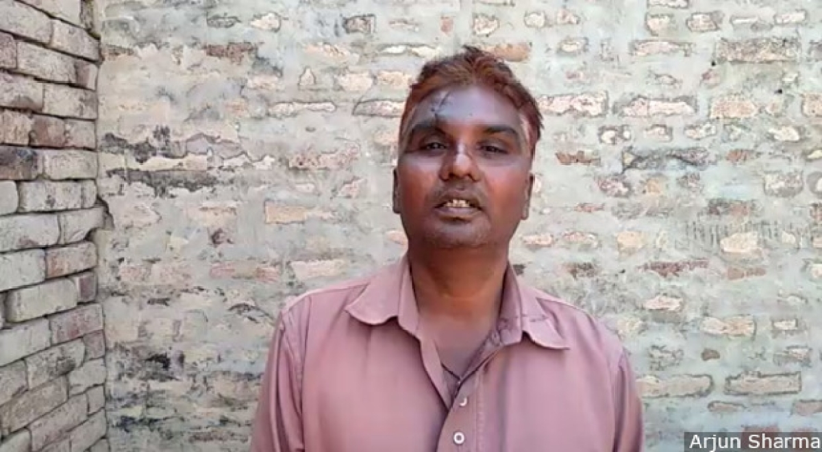 Gora Singh, 35, an unskilled labourer, has been visiting the Malgodam labour hub in Mansa city since 2013. Before demonetisation, he managed to find more than 20 days' work a month; today he is happy if he gets even two weeks'.