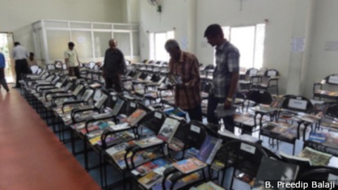 A library exhibition at RPC Layout, Vijayanagar Public Library, Bengaluru.