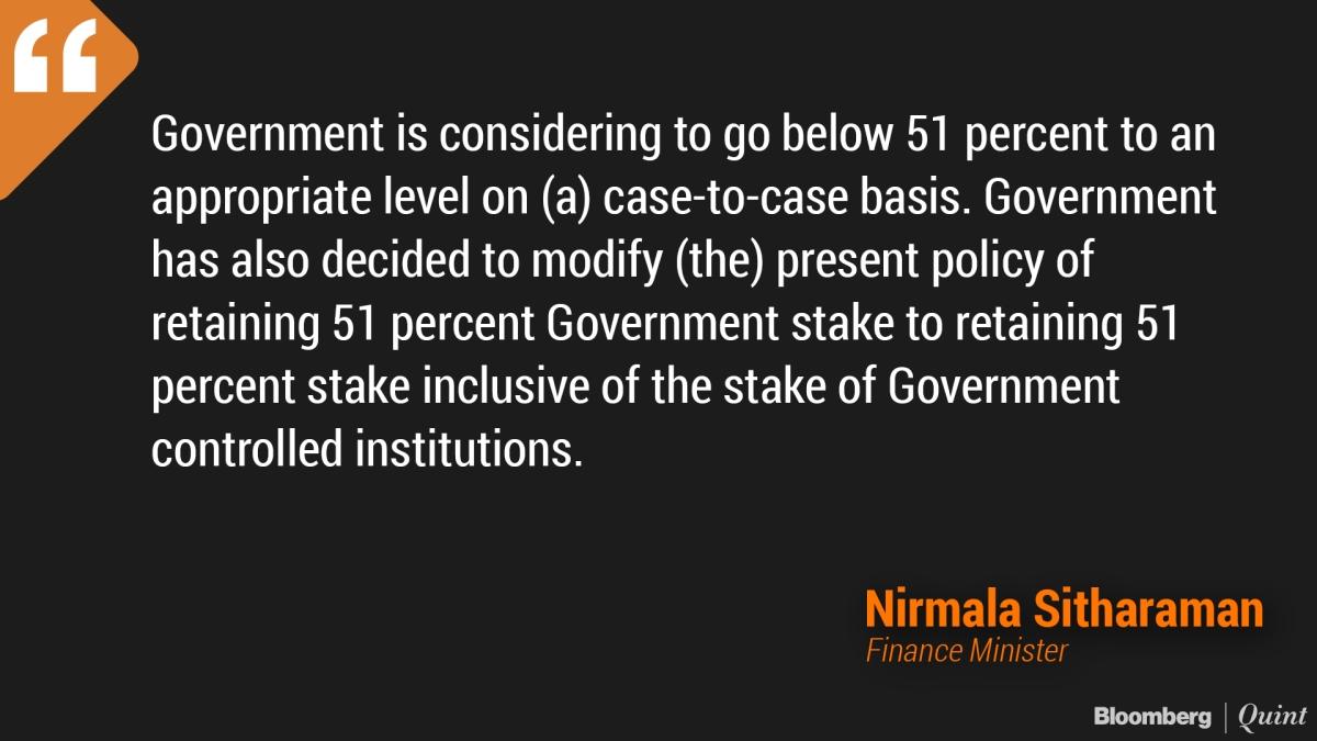Frankly, FM Nirmala Sitharaman, Shed PSU CONTROL, Not Ownership
