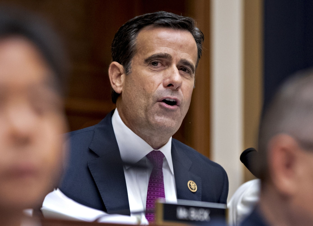 Trump Says He'll Nominate Loyalist Ratcliffe as Spy Chief