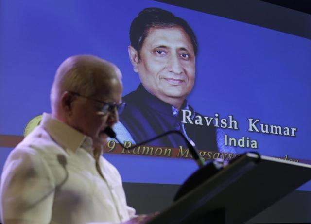 Ravish Kumar Award: Indian Journalist Ravish Kumar Wins 2019