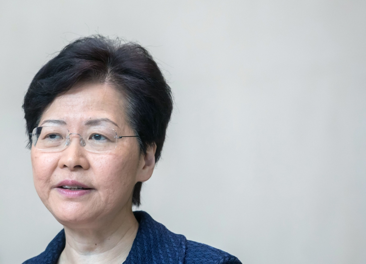 Hong Kong's Leader Says She Has Never Asked Beijing's Permission to Resign
