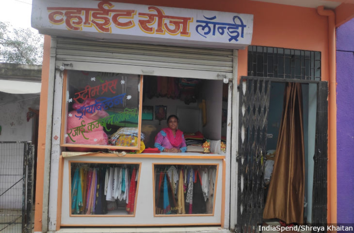 """Malti Kanojia, 52, a resident of Amar Tekri in Indore. """"Of course, all of us separate '<em>gila</em>' (wet) and <em>'sukha</em>' (dry) waste,"""" she said. &nbsp;"""