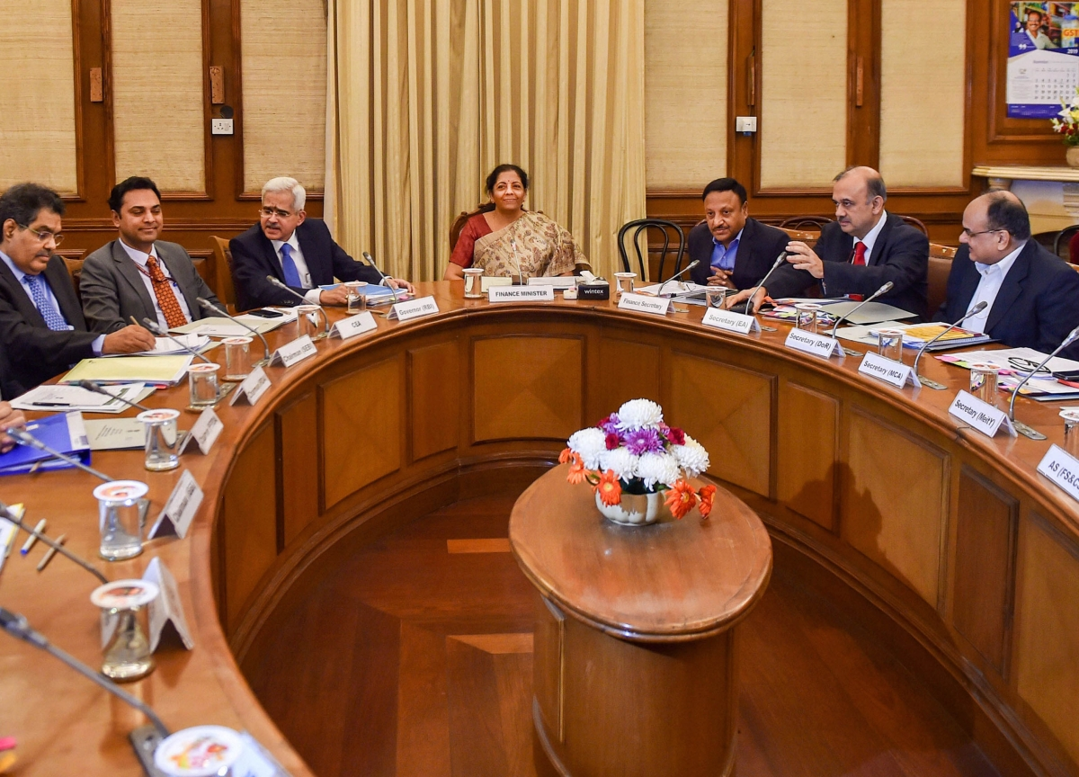 Finance Minister Nirmala Sitharaman Reviews State Of Economy With RBI, Other Regulators