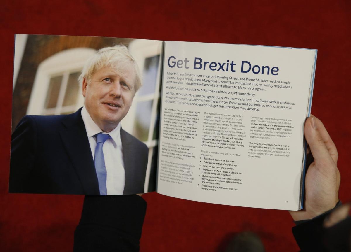 U.K. Conservative Manifesto Launch: Boris Johnson's Key Policies
