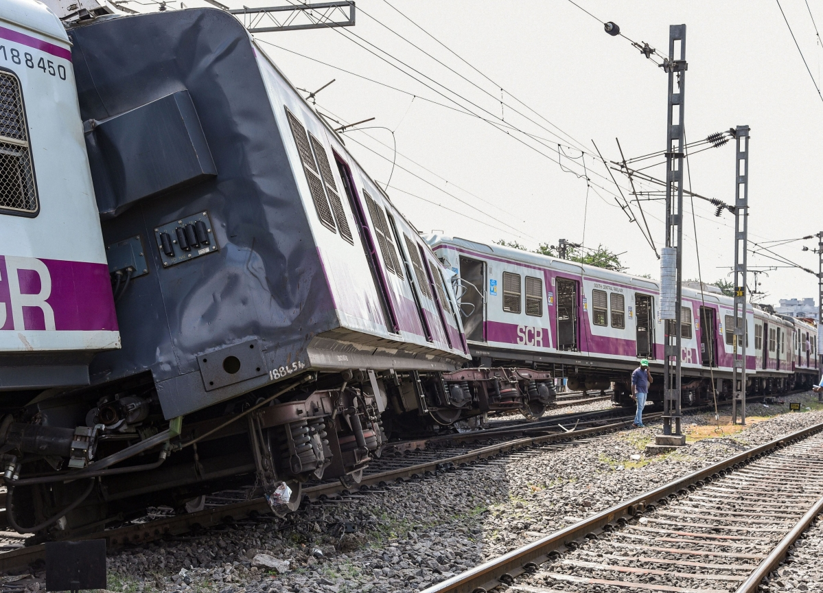 12 Injured As Two Trains Collide In Hyderabad