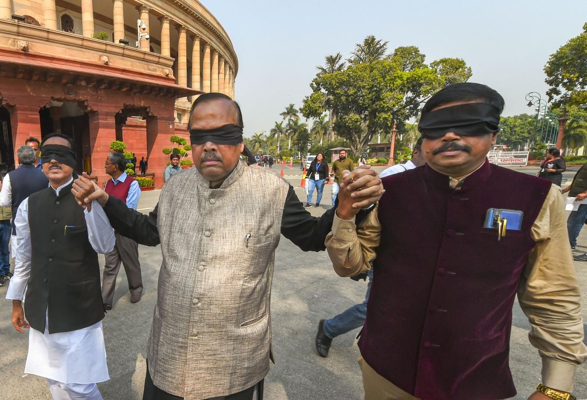 Trinamool Congress leaders protest over Delhi violence (Source: PTI)