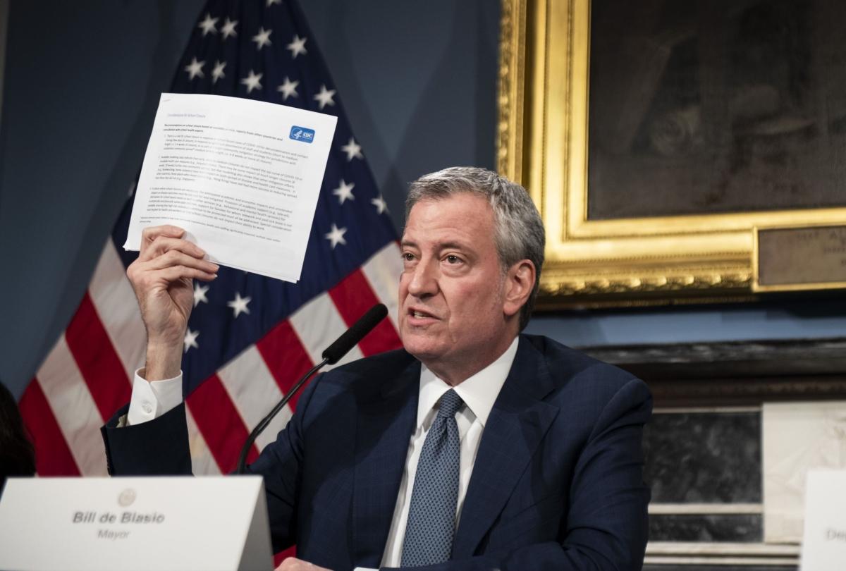 New York City Has One-Third of U.S. Virus Cases, Mayor Says