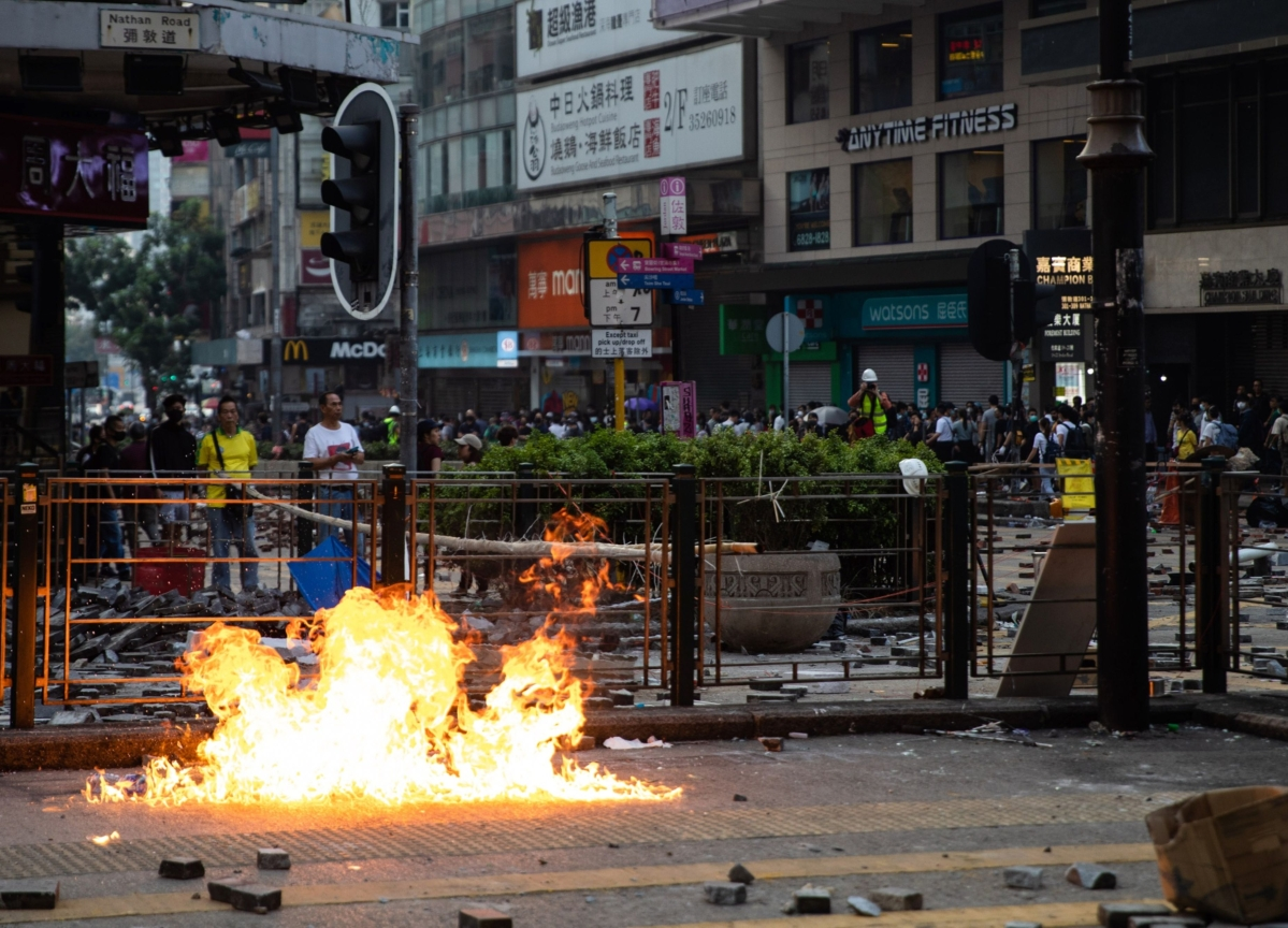 Hong Kong Police Arrest 17 People Over Suspected Homemade Bombs