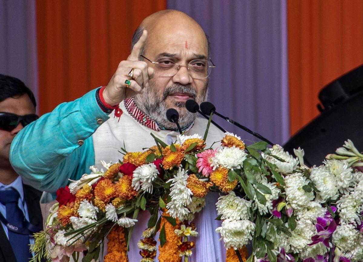 Amit Shah Arrives In Kolkata Amid Anti-CAA Protests