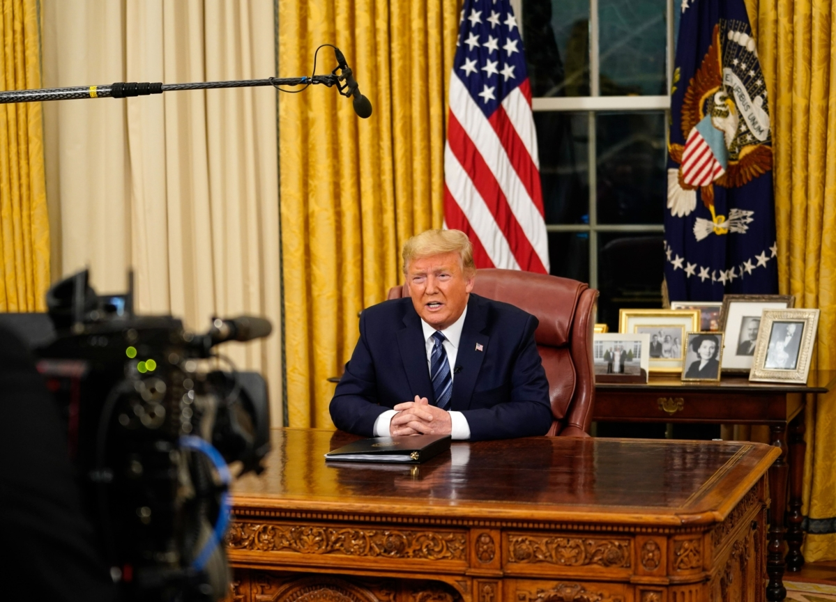 Trump's Error-Laden 'Foreign Virus' Speech Spooks Investors