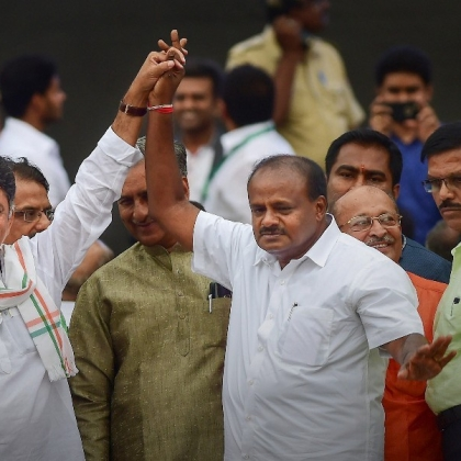 Kumaraswamy Wins Karnataka Trust Vote After BJP Walk-Out