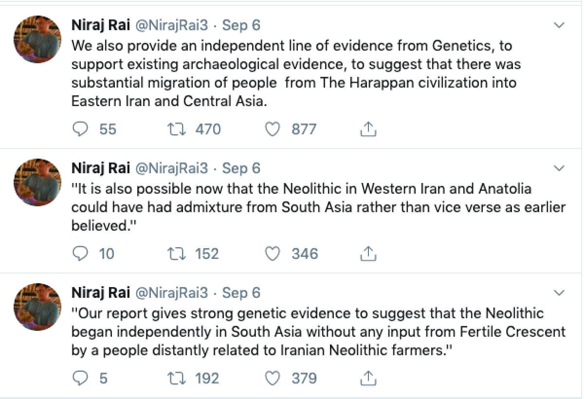 Revelations at Rakhigarhi: New Genetic Data Indicates India was an Independent Center of Civilization from Ancient Times