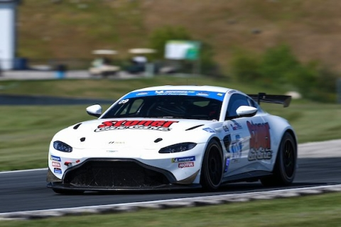 Akhil Rabindra and Ross Gunn finish sixth at the Michelin GT Challenge