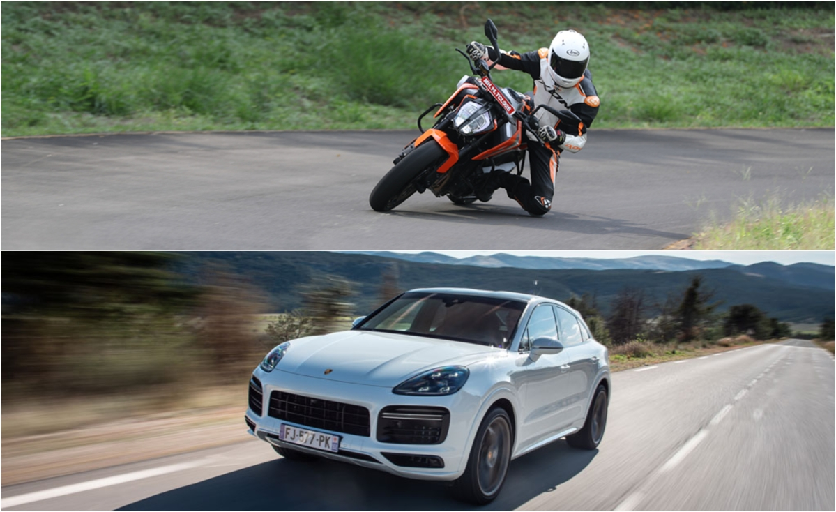 The KTM 790 Duke and Porsche Cayenne Coupe dissected | The Thrill of Driving Podcast #17