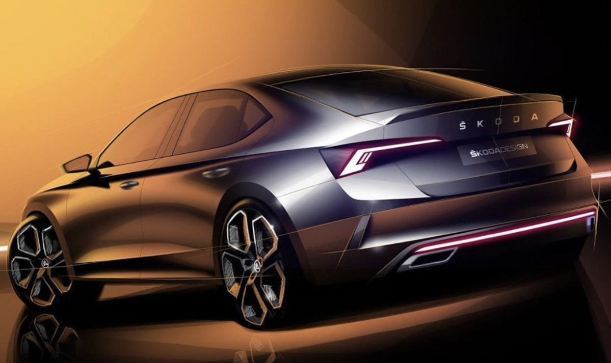 Skoda teases sketches of upcoming Octavia RS iV