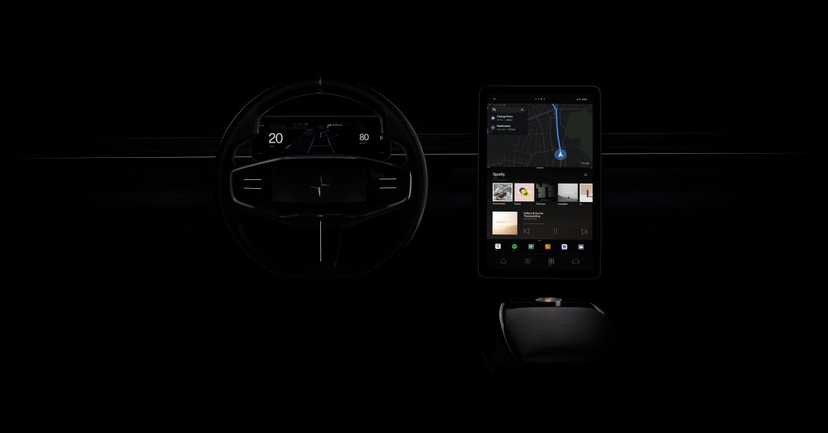 The infotainment system showcases where the company is headed